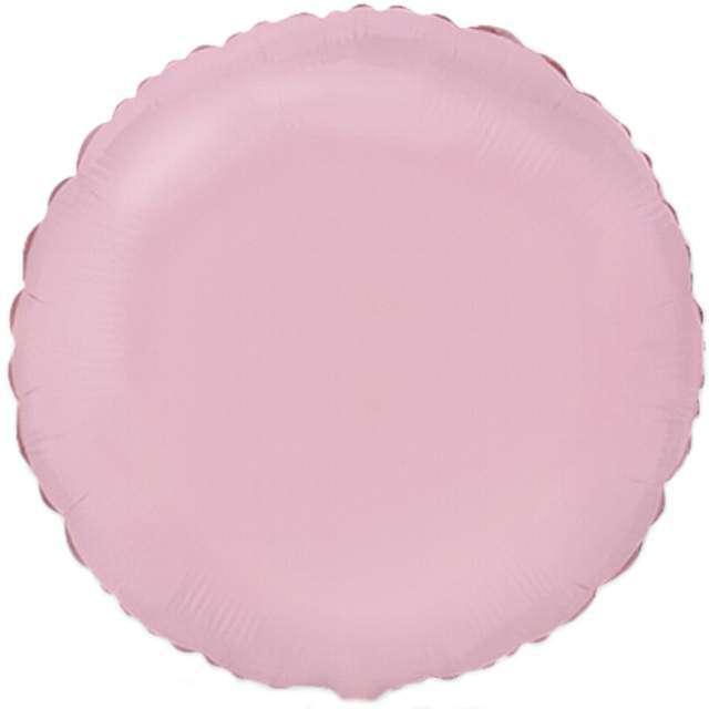 """Balon foliowy """"Okrągły"""", różowy jasny, FLEXMETAL, 18"""" RND"""