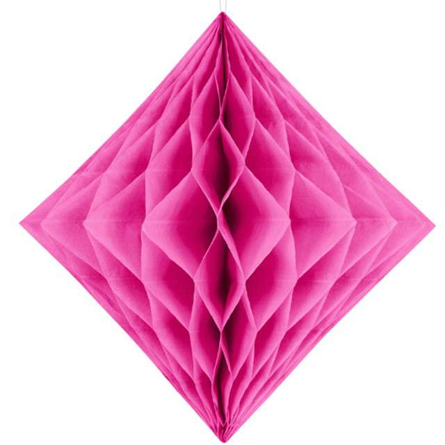 """Diament bibułowy """"Classic"""", ciemny różowy, 20 cm"""