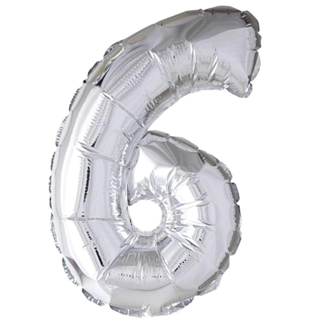 """Balon foliowy """"Samopompujący - Cyfra 6"""", Top Ten, SHP"""