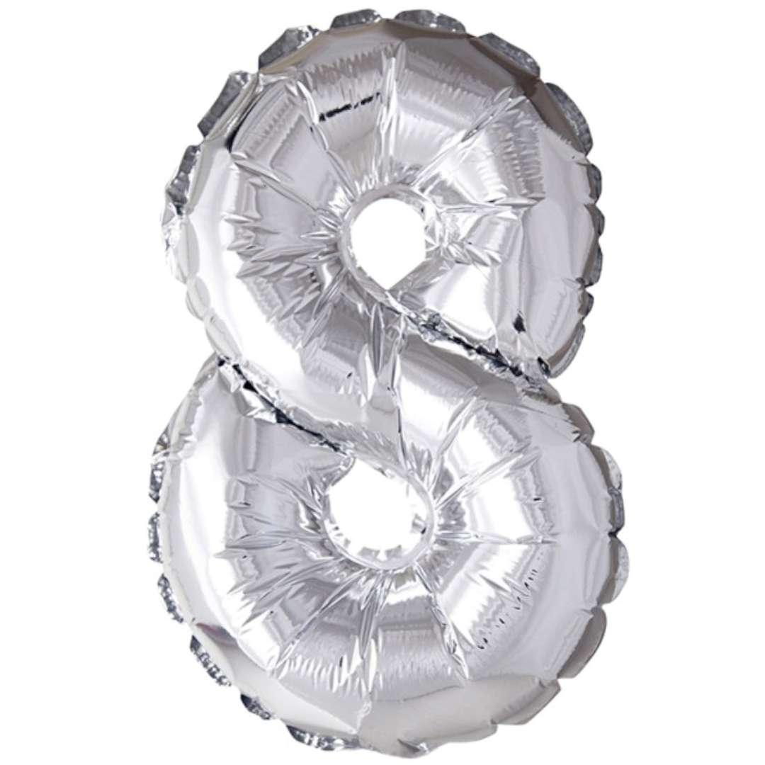 """Balon foliowy """"Samopompujący - Cyfra 8"""", Top Ten, SHP"""