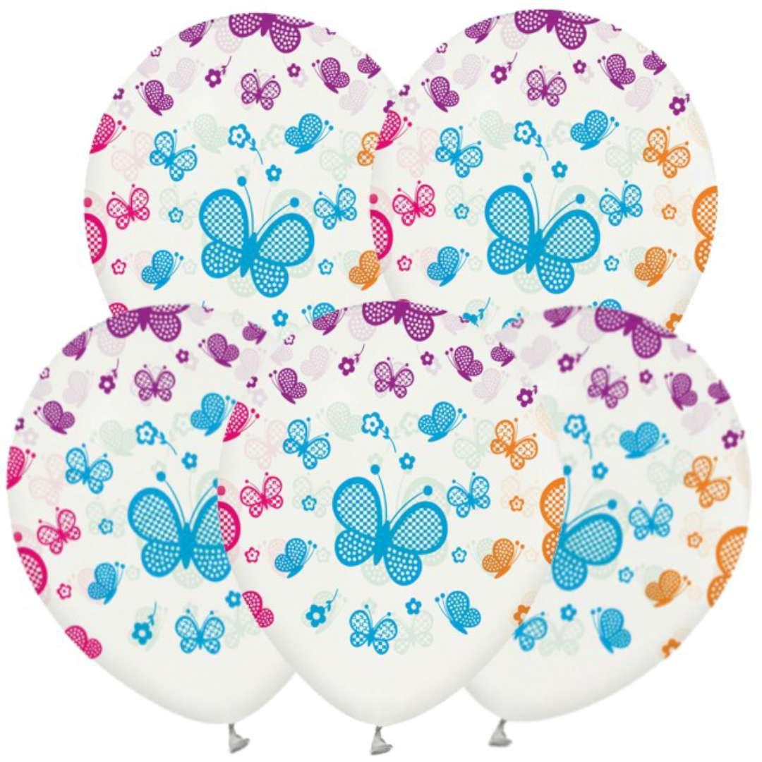 """Balony """"Motylki"""", GODAN, 12"""", 5 szt"""