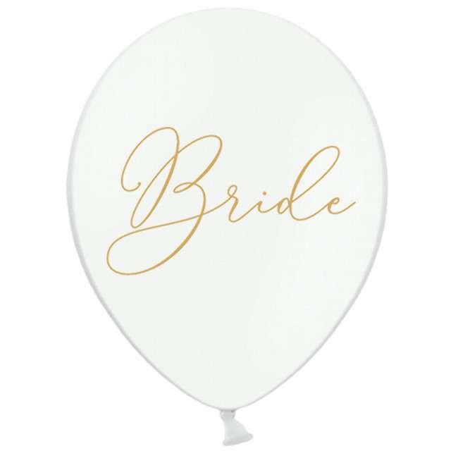 Balony Bride białe PartyDeco 50szt