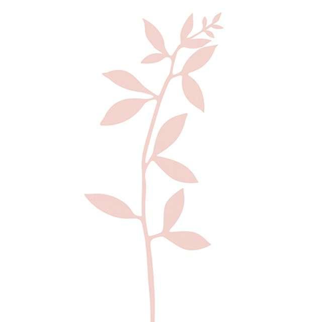 """Dekoracja """"Gałązki"""", różowe pudrowe, PartyDeco, 6szt"""