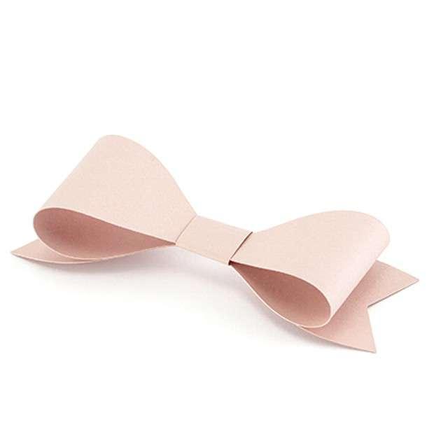 Dekoracje Kokardki pudrowy róż PartyDeco 6szt