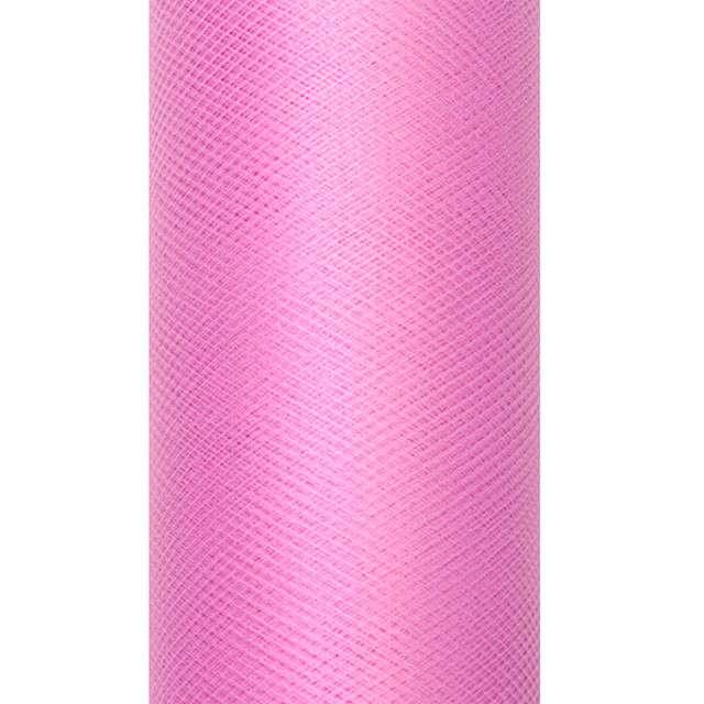 Tiul gładki, różowy ciemny, PartyDeco, 0,5x9m
