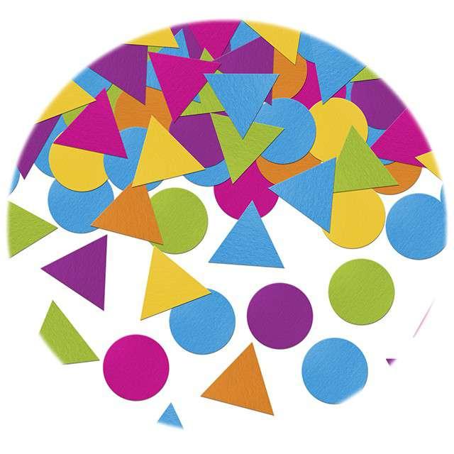 """Konfetti """"Kółka i trójkąty"""", mix, PartyDeco, 5g"""