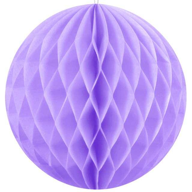 """Kula bibułowa """"Classic HoneyComb"""", liliowy, 10cm"""