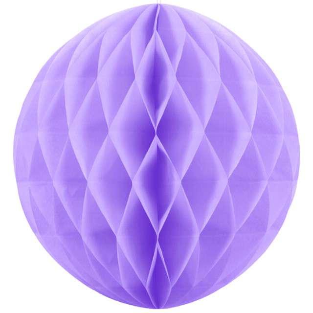 Kula bibułowa Classic HoneyComb liliowyPartyDeco  30cm 1szt