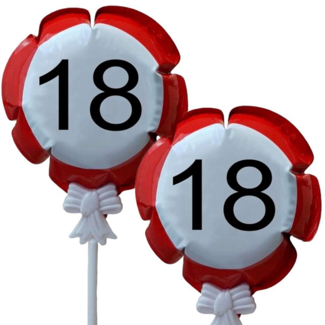 """Balon foliowy """"Samopompujący  - 18 urodziny Traffic"""". Top Ten, RND"""