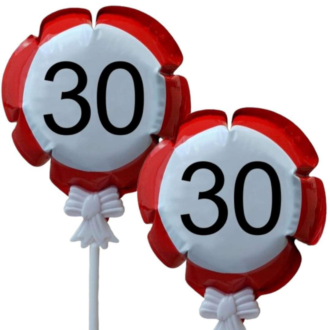 """Balon foliowy """"Samopompujący  - 30 urodziny Traffic"""". Top Ten, RND"""