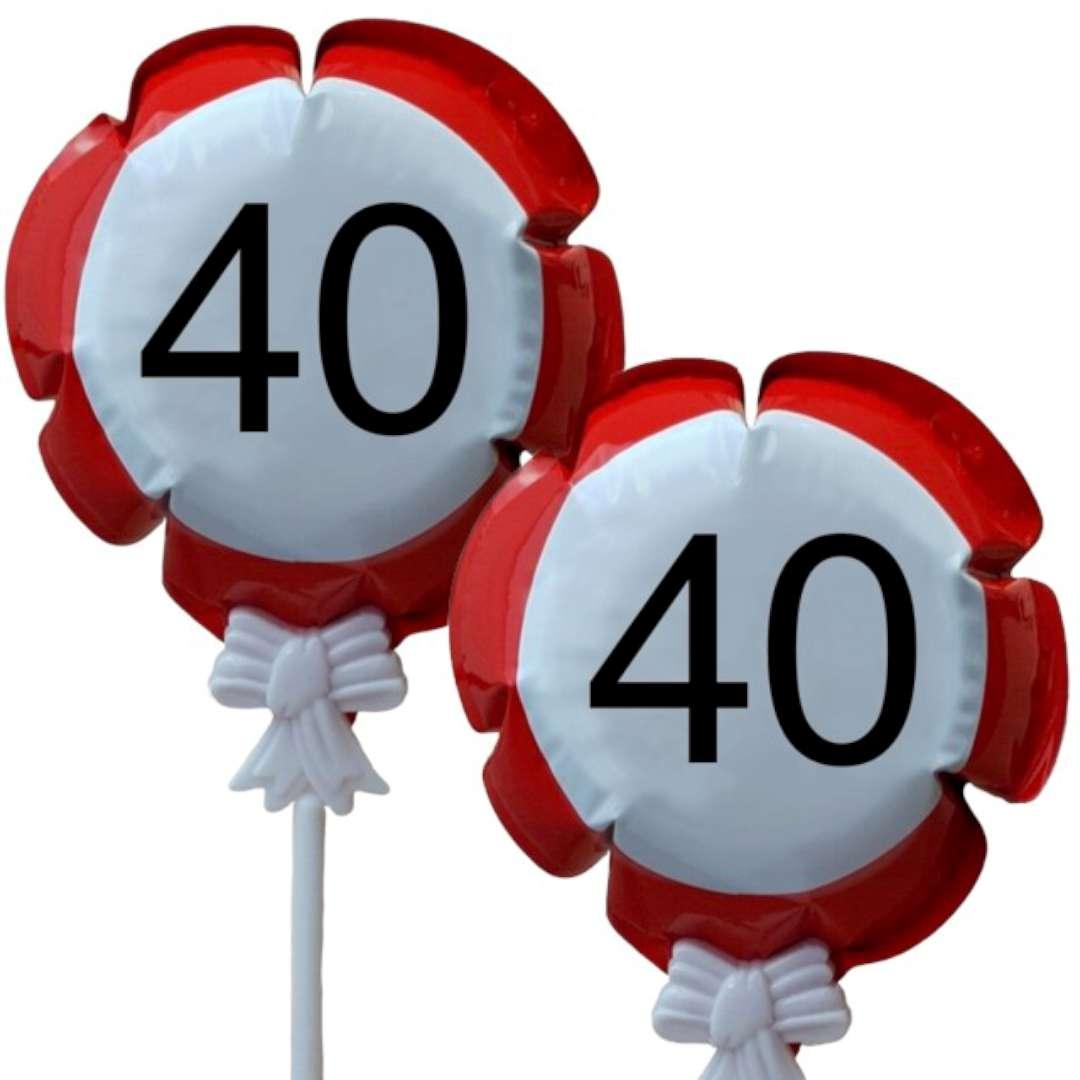 """Balon foliowy """"Samopompujący  - 40 urodziny Traffic"""". Top Ten, RND"""