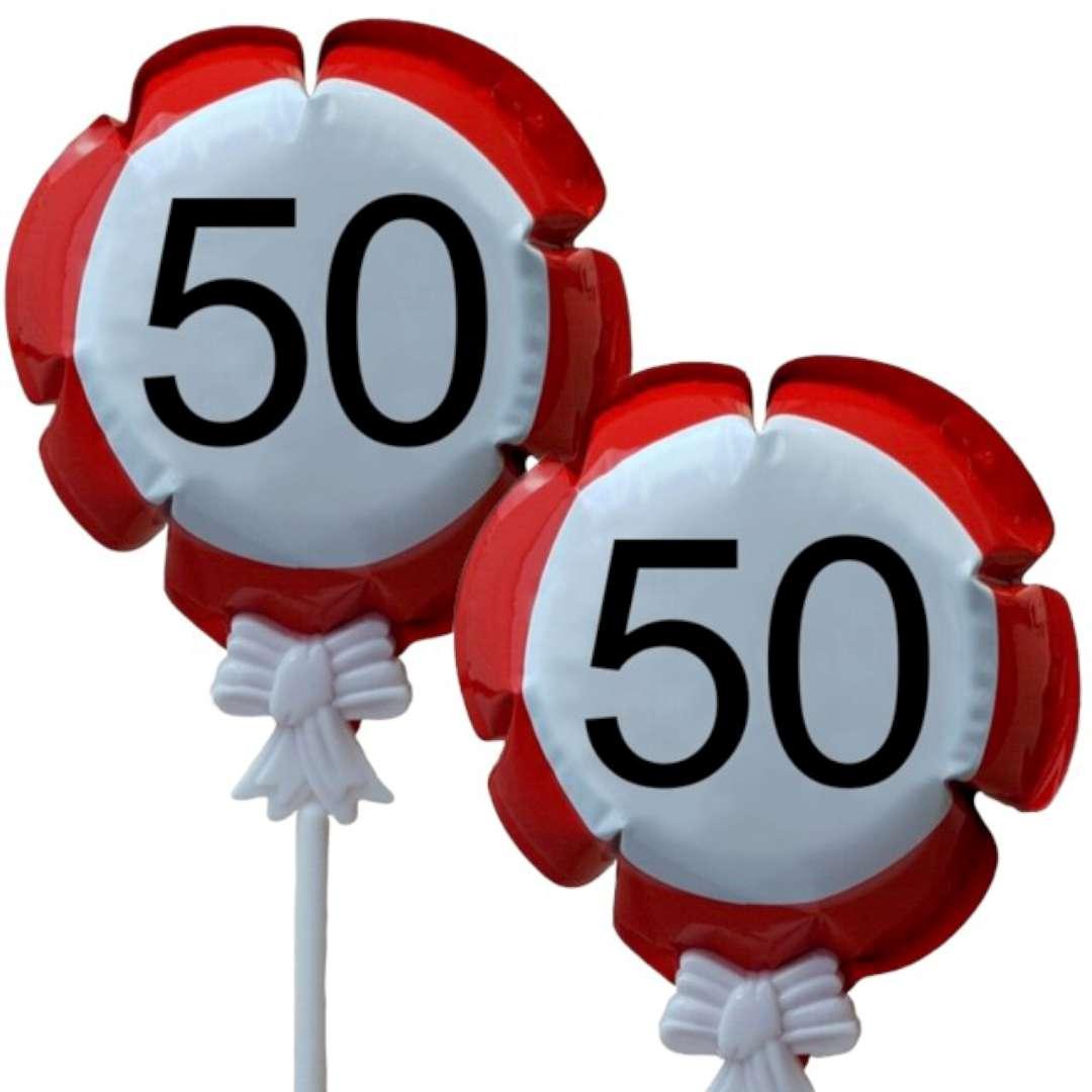 """Balon foliowy """"Samopompujący  - 50 urodziny Traffic"""". Top Ten, RND"""