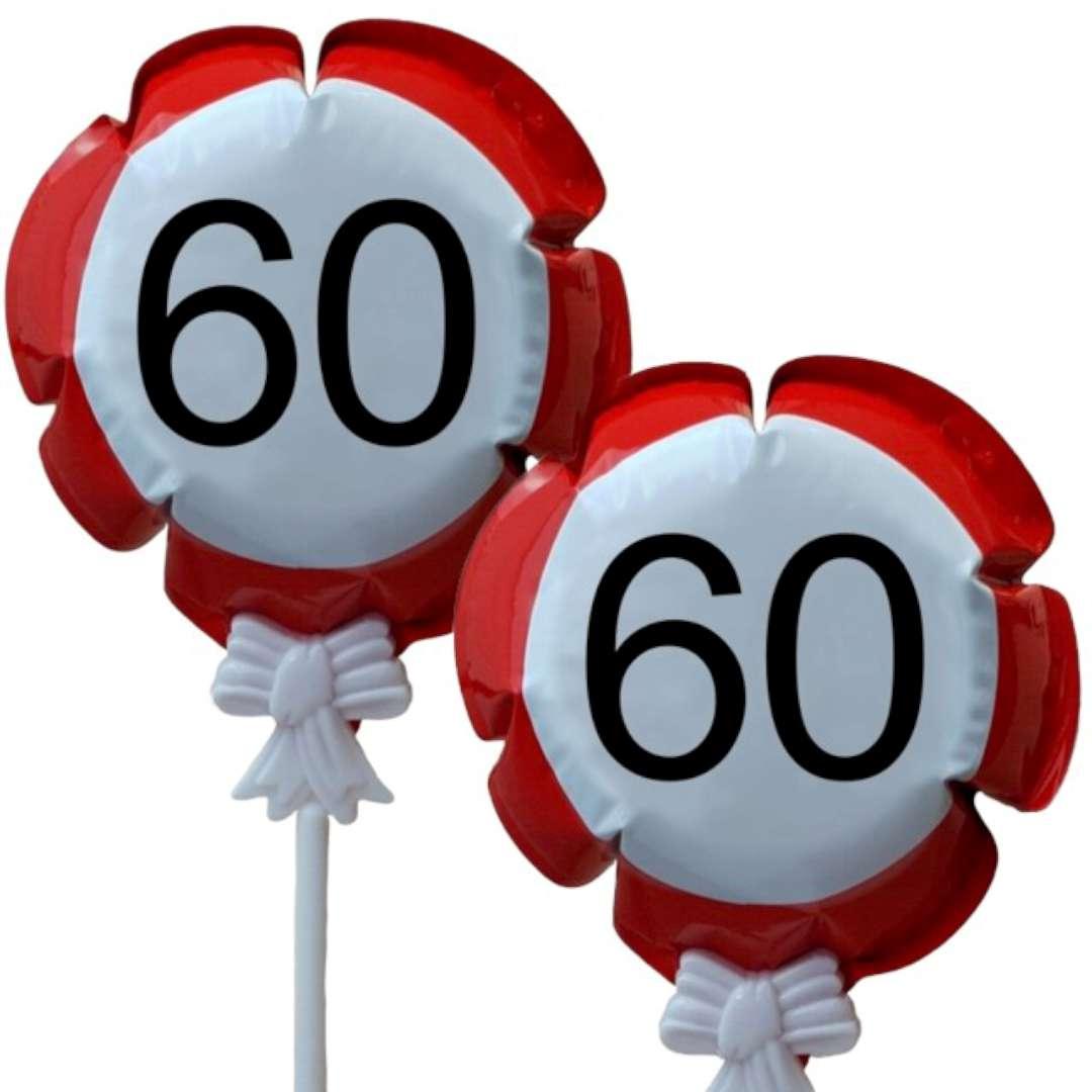 """Balon foliowy """"Samopompujący  - 60 urodziny Traffic"""". Top Ten, RND"""