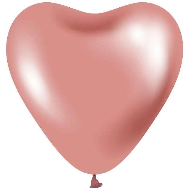 """Balony """"Beauty and Charm - Serca Platynowe"""", różowe, GODAN, 12"""", 6 szt."""