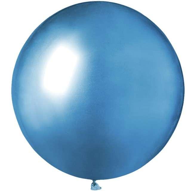 Balony Shiny niebieskie GEMAR 19 25 szt.