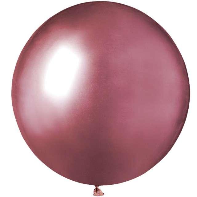 "Balony ""Shiny"", różowe, GEMAR, 19"", 25 szt"
