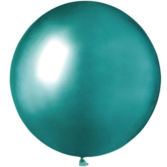 """Balony """"Shiny"""", zielone, GEMAR, 19"""", 25 szt"""