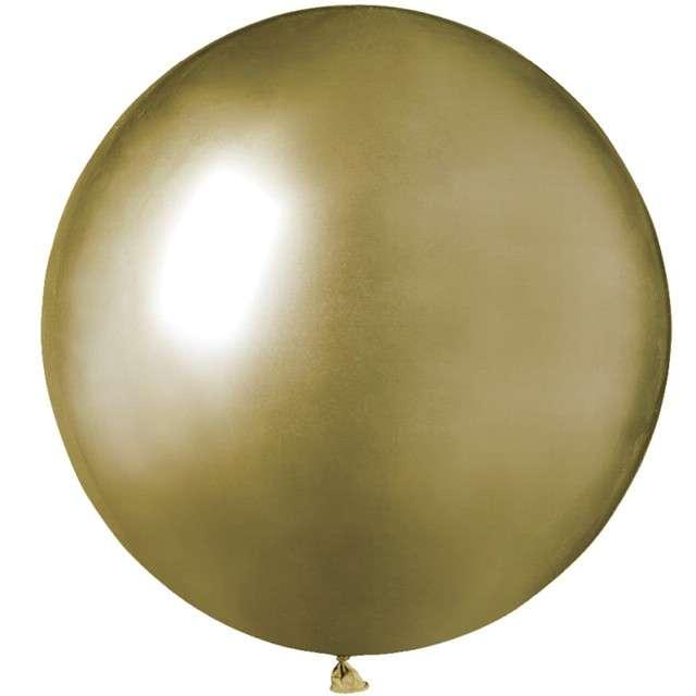 """Balony """"Shiny"""", złote, GEMAR, 19"""", 25 szt"""