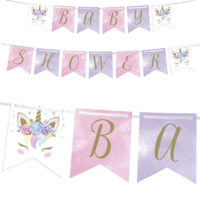 Girlanda Baby Shower Girl - Jednorożec Creative Converting 210 cm