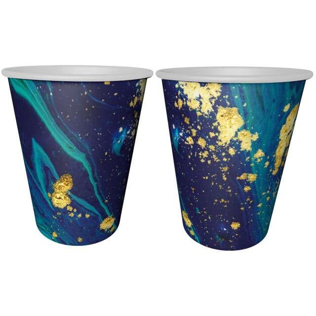 """Kubeczki papierowe """"Midnight Blue"""", granatowe, GODAN, 240 ml, 6 szt"""