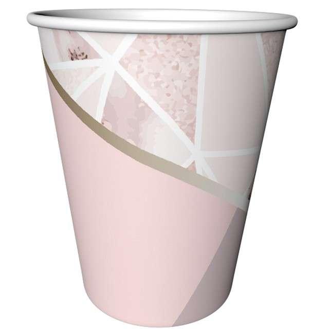 Kubeczki papierowe Rose Chic GODAN 240 ml 6 szt