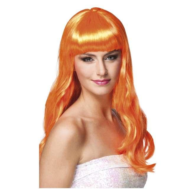 """Peruka """"Elegancka Dziewczyna"""", pomarańczowa, Boland"""