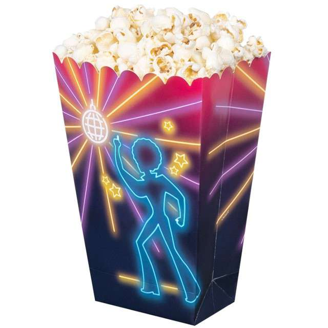 Pudełka na popcorn Disco BOLAND 4 szt
