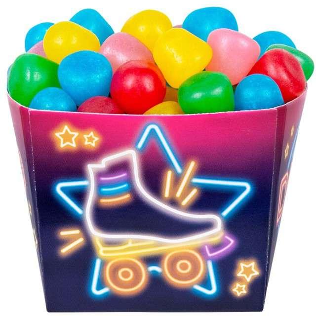 "Pudełka na popcorn ""Disco"", BOLAND, 400 ml, 6 szt"