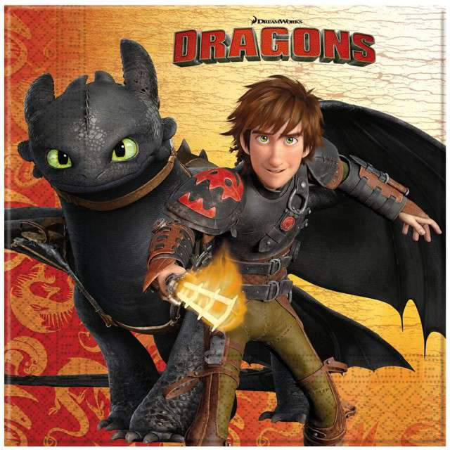 _xx_Serwetki papierowe Dragons 33x33 cm 20 szt.