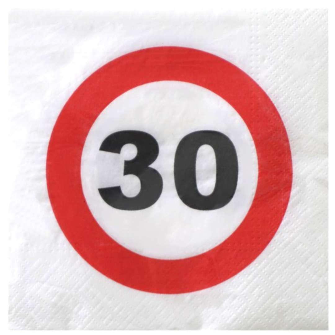 """Serwetki """"Traffic - 30 urodziny"""", Top Ten, 33 cm, 20 szt"""