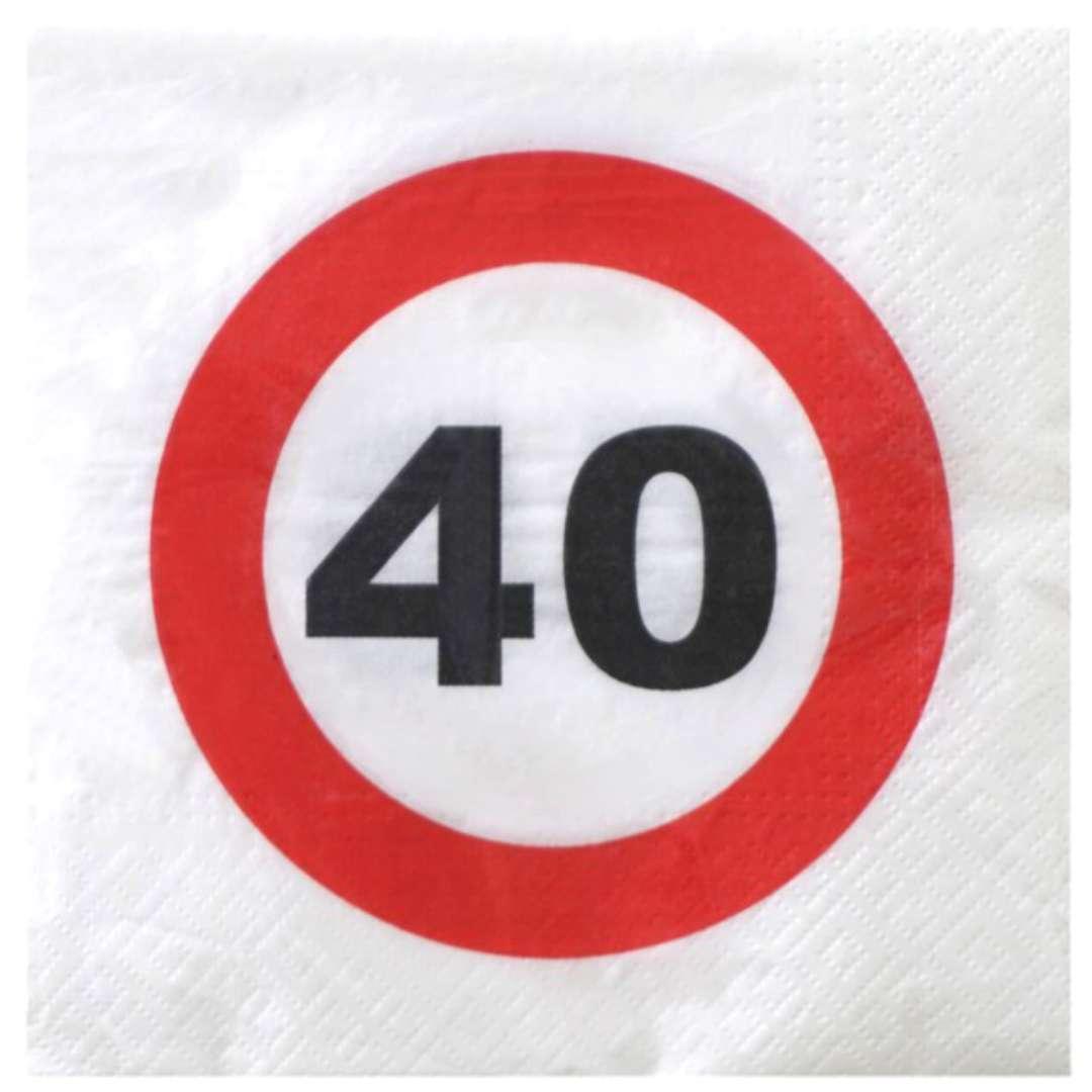 """Serwetki """"Traffic - 40 urodziny"""", Top Ten, 33 cm, 20 szt"""