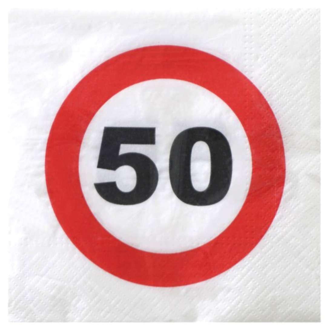 """Serwetki """"Traffic - 50 urodziny"""", Top Ten, 33 cm, 20 szt"""