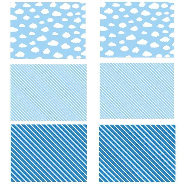 """Podkładka papierowa """"Chmurki"""", niebieska, PartyDeco, 6szt"""