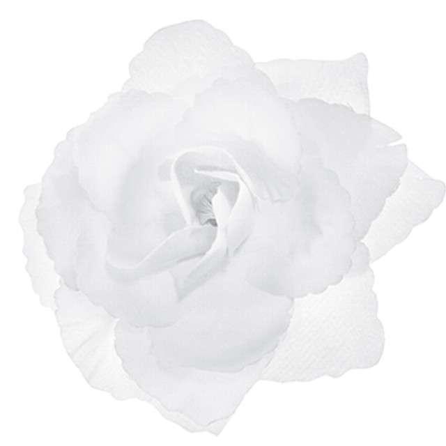 """Dekoracje """"Różyczki"""", białe, PartyDeco, 24szt"""