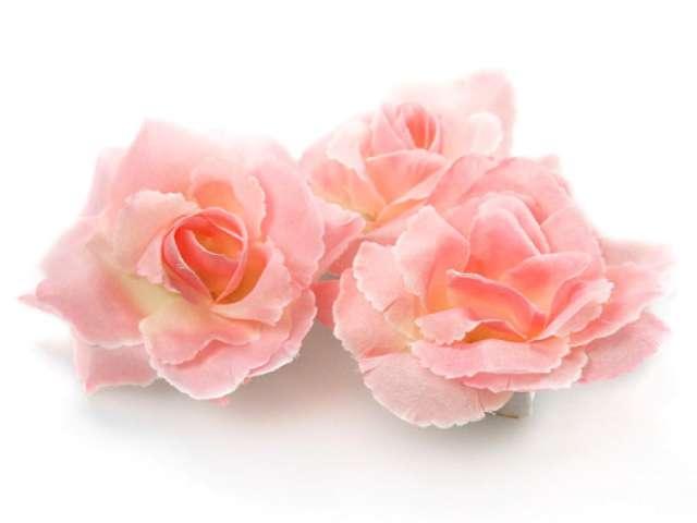 """Dekoracje """"Różyczki"""", różowe, PartyDeco, 24 szt"""