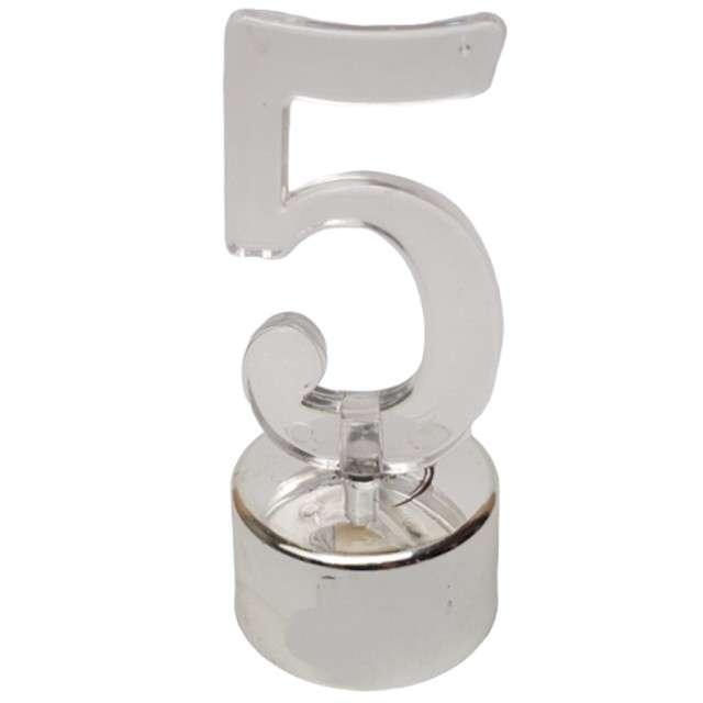 "Świeczka na tort ""Cyfra LED 5"",Top Ten"
