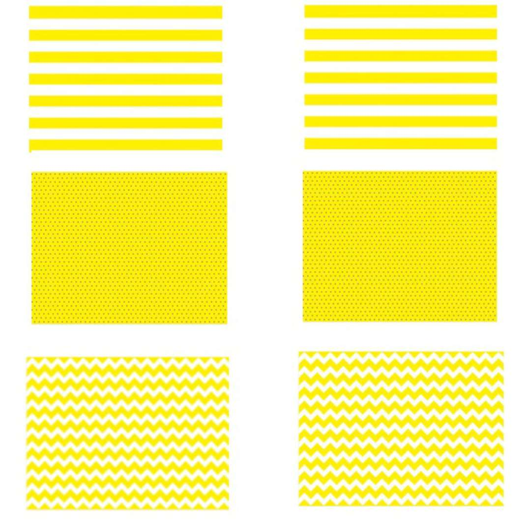 """Papierowa podkładka """"Classic"""", zółta, PartyDeco, 6 szt"""