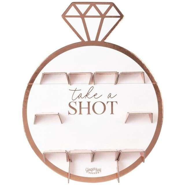 """Ściana na shoty """"Shot"""", różowo złota, Godan, 40x69cm"""