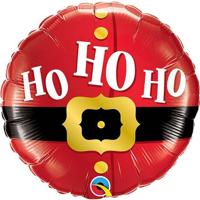 """Balon foliowy """"Mikołąj - Ho ho ho"""", QUALATEX, 9"""" RND"""