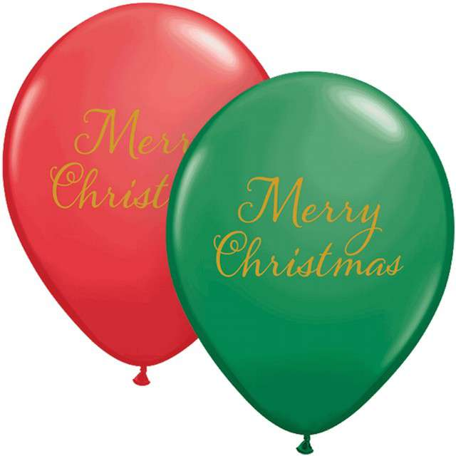 "Balony ""Merry Christmas"", mix, QUALATEX, 11"", 25 szt"