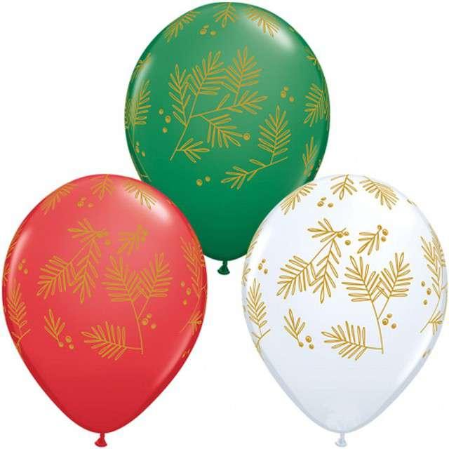 """Balony """"Świąteczne Świerki"""", mix, QUALATEX, 11"""", 25 szt"""