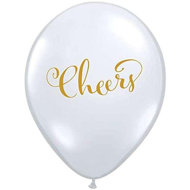 """Balon """"Cheers"""", biały, Qualatex, 11"""", 25 szt"""
