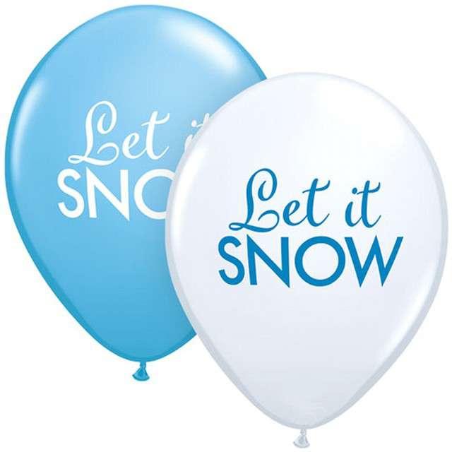 """Balony """"Świąteczne - Let it snow"""", mix, QUALATEX, 11"""", 25 szt"""