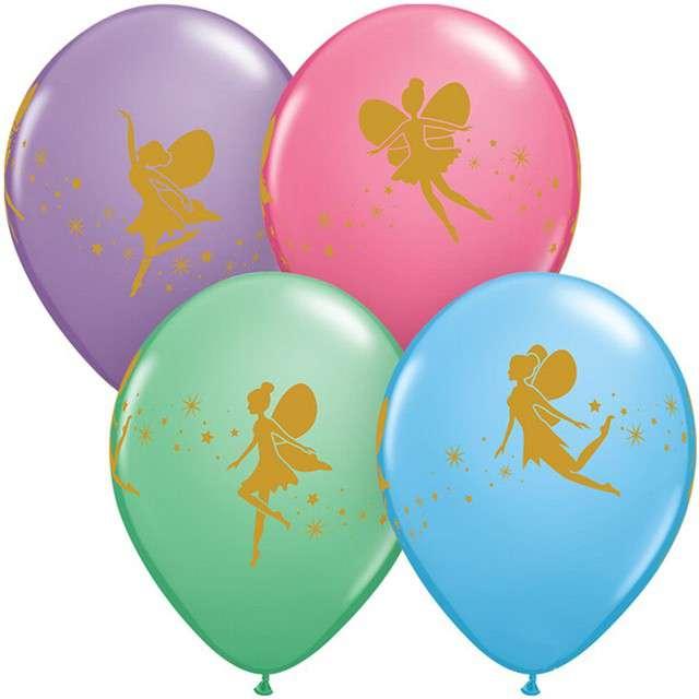 """Balony """"Wróżka"""", mix, QUALATEX, 11"""", 25 szt"""
