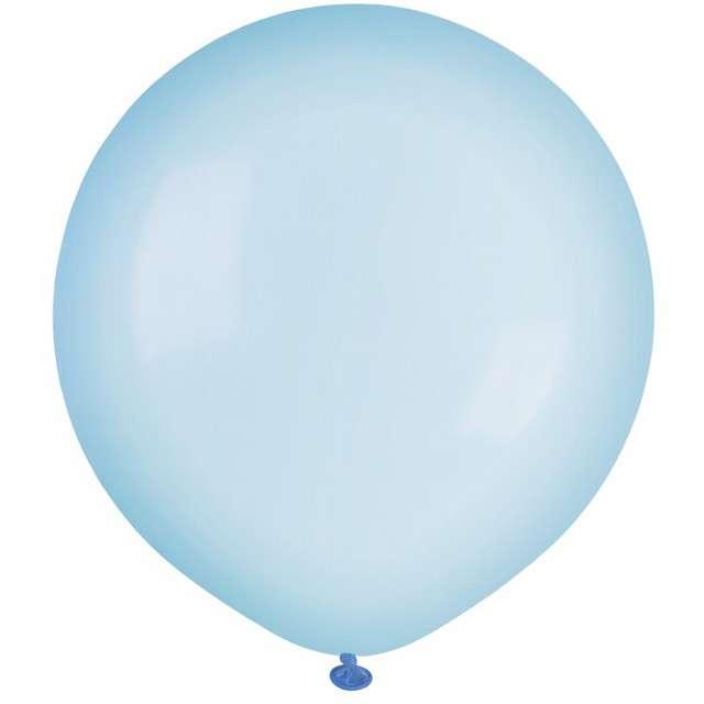 """Balony """"Krystaliczne"""", niebieskie jasne, GEMAR, 19"""", 25 szt"""