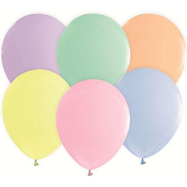 "Balony ""Beauty and Charm"", pastel mix, GODAN, 12"", 50 szt."