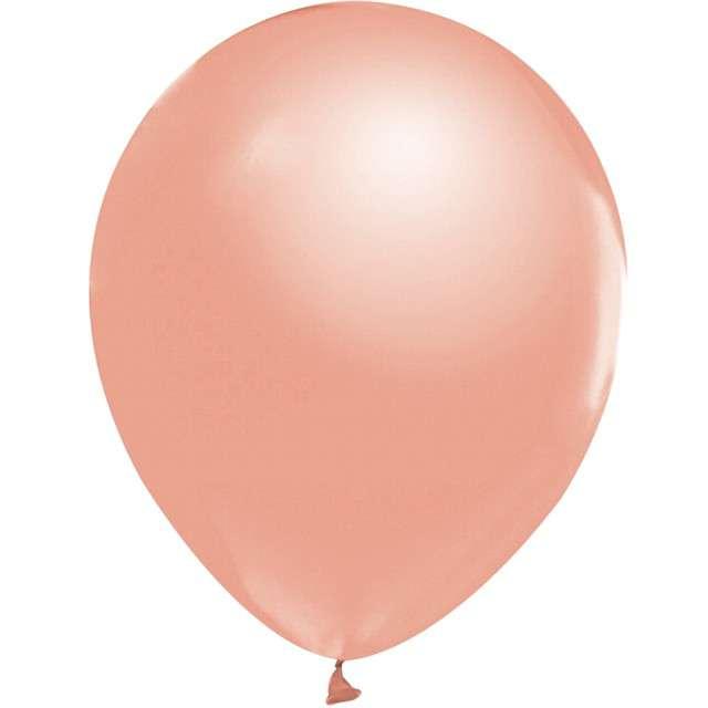 """Balony """"Beauty and Charm"""", różowo-złoty metalik, GODAN, 12"""", 50 szt."""