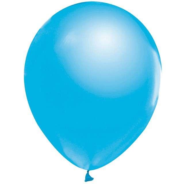 """Balony """"Beauty and Charm"""", niebieski jasny metalik, GODAN, 12"""", 50 szt."""