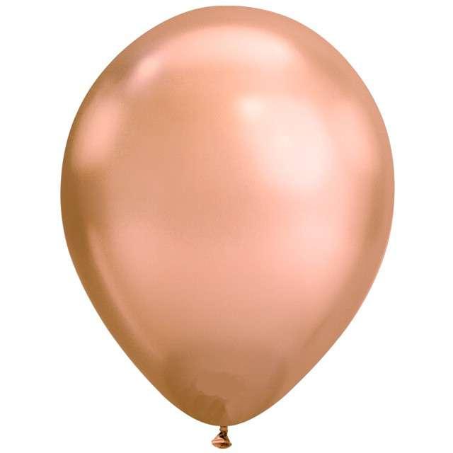 """Balony """"Chromowane"""", różowo-złoty, Qualatex, 11"""", 25 szt"""
