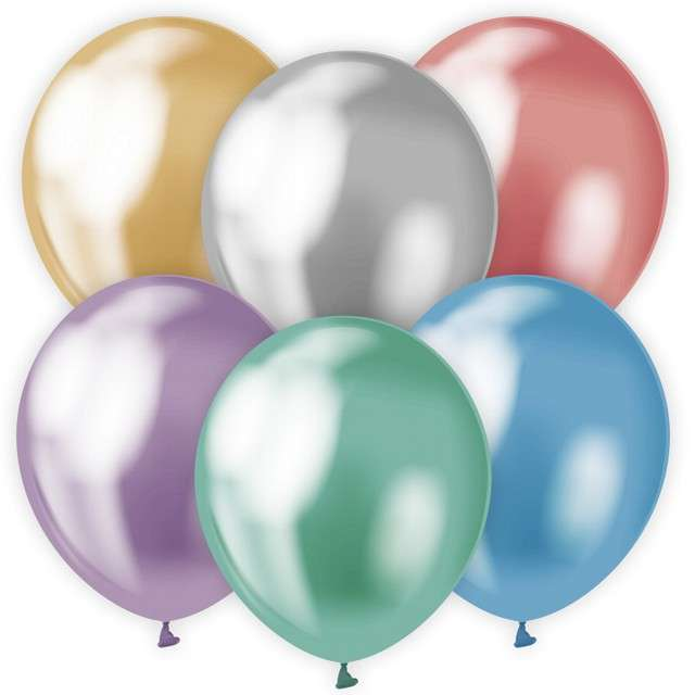 "Balony ""Beauty and Charm"", platynowe mix, GODAN, 12"", 50 szt."